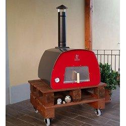 Forno da giardino con ruote o prefabbricato in pietra - Forno per pizza da giardino ...